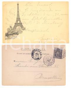 1889 PARIS Exposition Universelle - Tour EIFFEL - Carte postale LIBONIS circulée