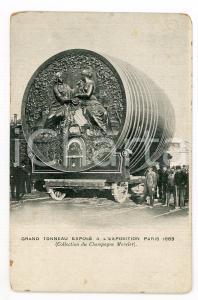1899 EXPOSITION PARIS Grand Tonneau - Champagne MERCIER - Carte postale ANIMEE