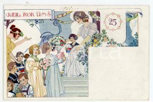 1905 ART DECO Artist SCHLOSSER Jubil. Rok U.M.S. Carte postale ILLUSTRÉE FP NV