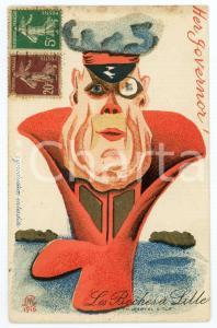 1920 LES BOCHES À LILLE Her governor - Carte postale ILLUSTRÉE FP VG