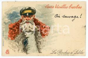 1920 LES BOCHES À LILLE Leurs vieilles barbes - Carte postale FP VG
