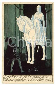 1920 ca WIENER MOZART-GEMEINDE Don Juan series: komthur and Don Juan - Postcard