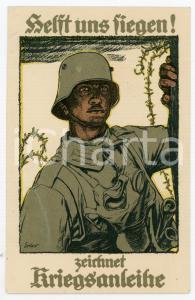 1915 WW1 - DEUTSCHLAND Helft uns fiegen! Zeirhnet kriegsanleihe - Postcard FP VG