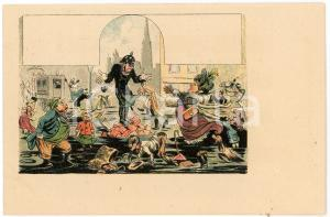 1900 ca GERMANY - SATIRE  Flooding in the city ILLUSTRATE Postcard FP NV