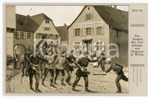 1920 ca DEUTSCHLAND Einbringen der zwei gefangenen Dragoner in Worth - Postcard