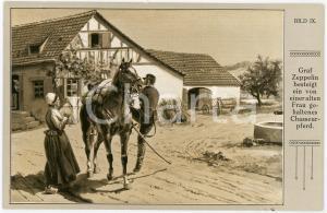 1920 ca Ferdinand VON ZEPPELIN besteigt chasseur pferd - Postcard BILD IX