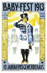 1913 DRESDEN Gewerbehaus - Baby Fest - ill. Max ULLMANN - Postcard