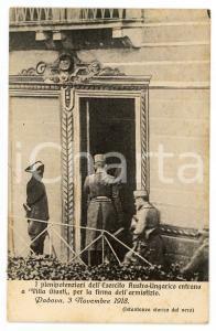 1918 WW1 PADOVA Armistizio di Villa GIUSTI - Plenipotenziari austro-ungarici
