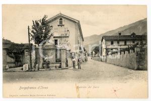 1900 ca BORGOFRANCO D'IVREA (TO) Entrata del paese *Cartolina postale FP ANIMATA