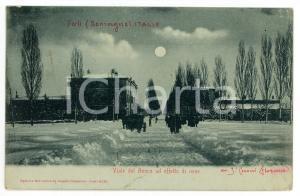 1905 ca FORLÌ (EMILIA ROMAGNA) Viale del Ronco ad effetto di neve - Cartolina