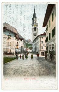 1904 CORTINA D'AMPEZZO Kirche - Chiesa SS Filippo e Giacomo - Cartolina