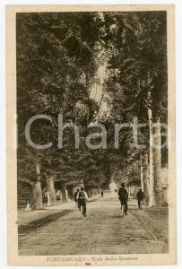 1936 PORTOGRUARO (VENEZIA) Viale della Stazione - Cartolina animata bici