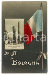 1910 ca BOLOGNA Veduta sulle Torri Garisenda e degli Asinelli - Cartolina