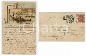 1894 VENEZIA Veduta sul Canal Grande - Gondole - Cartolina postale vintage