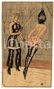 1955 VINTAGE EROTIC Lesbian BDSM Mistress and slave *Drawing Raymond VAN DOREN