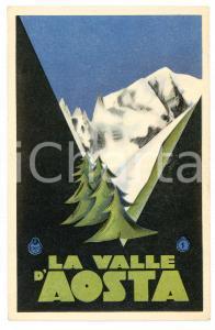 1925 ca ENIT - LA VALLE D'AOSTA Cartolina illustrata FP NV
