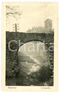 1929 ROVERETO (TN) Il Castello - Cartolina FP VG