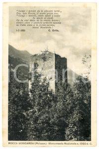 1929 PALUZZA (UD) Rocca Moscarda - Cartolina FP VG