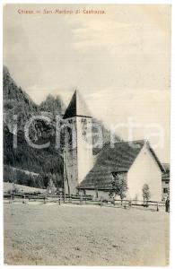 1906 SAN MARTINO DI CASTROZZA (TN) Veduta con chiesa - Cartolina FP VG