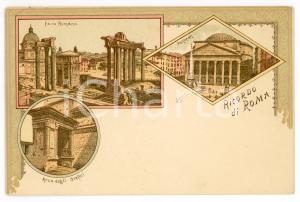 1900ca ROMA Arco degli orefici - Foro romano - Pantheon - Cartolina FP NV