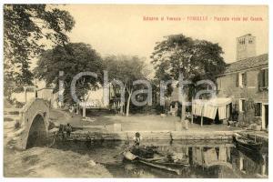 1920ca TORCELLO Estuario di VENEZIA Piazzale visto dal Canale - Cartolina FP NV