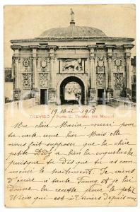 1908 TREVISO Porta San Tomaso - Porta Mazzini - Cartolina ANIMATA FP VG