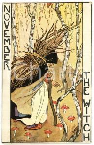1920 ca NOVEMBER The Witch - Illustration by Rie CRAMER Postcard FP NV