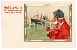 1913 RED STAR LINE Antwerpen NEW YORK Boston - Ill. Henri CASSIERS Postcard FP