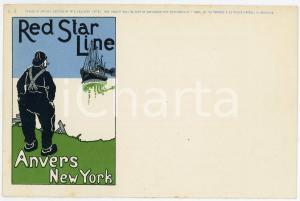 1900ca RED STAR LINE Anvers - New York - Illustration by Henri CASSIERS Postcard