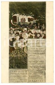 1908 LOUVAIN - Parc Ducal d'Heverle KERMESSE FLAMANDE Carte postale FP VG
