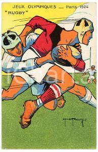 1924 PARIS Jeux Olympiques - Rugby - Postcard illustrated H. L. ROOWY