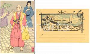 1900 ca JAPON NIPPON Le vaillant HOKUSAI descendant d'un Samourai *Carte postale