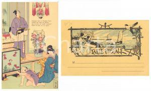 1900 ca JAPON NIPPON Famille - Monsieur Sucre et Madame Prune - Carte postale