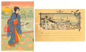 1900 ca JAPON NIPPON Aux jardins du Yoshivara - Mousmé - Carte postale