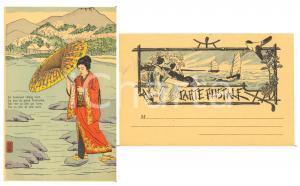 1900 ca JAPON NIPPON Aux pied du Fushiyama elle rêve d'un djin - Carte postale