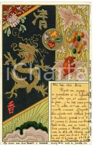 1904 CHINA ART NOUVEAU Dragon - Illustrated vintage postcard