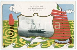 1910 CHINA S.S. KOBE MARU South Manchuria Railway - SHANGHAI Mail Liner Postcard