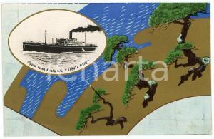 1920 ca JAPAN NYK Nippon Yusen Kaisha S.S. ATSUTA MARU - Postcard ship trees