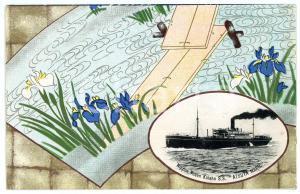 1920 ca JAPAN NYK Nippon Yusen Kaisha S.S. ATSUTA MARU - Postcard ship