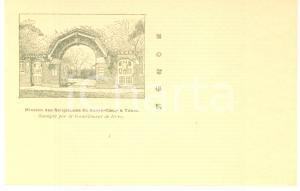 1900 ca Earthquake TOKYO JAPAN Mission Religieuses Sacré-Coeur *Postcard green
