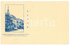 1900 ca Earthquake TOKYO JAPAN École Mission du Sacré-Coeur *Postcard blue