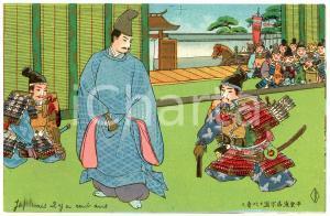 1910 ca JAPAN Samurai warriors - Illustrated old postcard