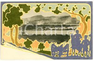 1905 ca RUSSO-JAPANESE WAR Artillery Duel at the River YALU - Postcard