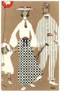 1905 ca FRANCE ART DECO Illustrateur MATE' - Famille - Carte postale