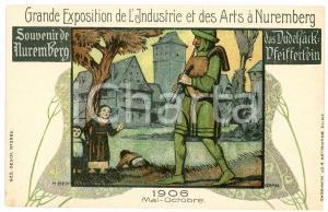 1906 EXPO NUREMBERG Artist Hermann BEK-GRAN Das Dudelsack-Pfeifferlein *Postcard