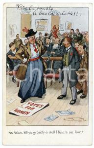 1923 HUMOUR - SUFFRAGETTE Vote for women ILLUSTRATED Postcard FP NV