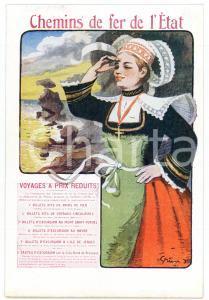 1910 ca CHEMIN DE FER DE L'ÉTAT Voyages a prix reduits - Carte postale FP NV