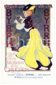1910ca BYRRH Tonique hygienique Illustration by DIANA Carte Postale FP NV