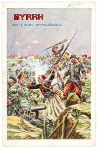 1918 BYRRH Tonique hygienique Illustration by Alphonse LALAUZE Carte Postale FP