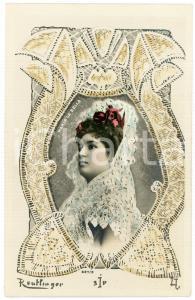 1900 ca ESPAÑA Maria La Bella - Artista cupletista - Old postcard